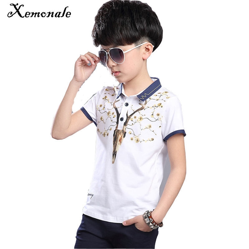 Xemonale Children's Clothing Suit 2018 New Summer Boys Print Deer Pattern T-Shirt+5pants Childrens Sports Leisures Clothes Sets
