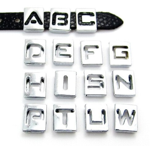8mm hollow slide charm letters 20pcslot n z can choose each