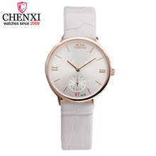 CHENXI Brand Fashion Simple Leather Women Quartz Wristwatch Small Dial Design Gift Clock Female Watches Gold&Silver Ladies Watch