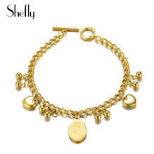 2018 Stainless Steel Oval Jesus Charm Bracelets Gold Link Chain Toggle-clasps Trendy Jewelry Bracelet For Women Gifts Pulseras недорого