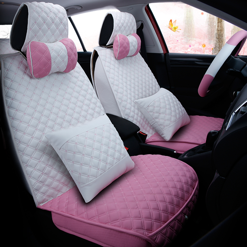 Cartoon New Car Seat Cover Cushion Top Grade Pvc Accessories,Lovely Car Styling Seat Cushion Covers Seat Mats For BMW Audi Honda new 3d car seat cover sports styling senior leather car styling cushion for bmw audi q7 q5 honda ford crv all sedan