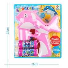 Birthday Gifts Toys for Children Kids Bubbles Toy Baby Dolphin Bubble Toys Maker LED Music Lamp Light Box