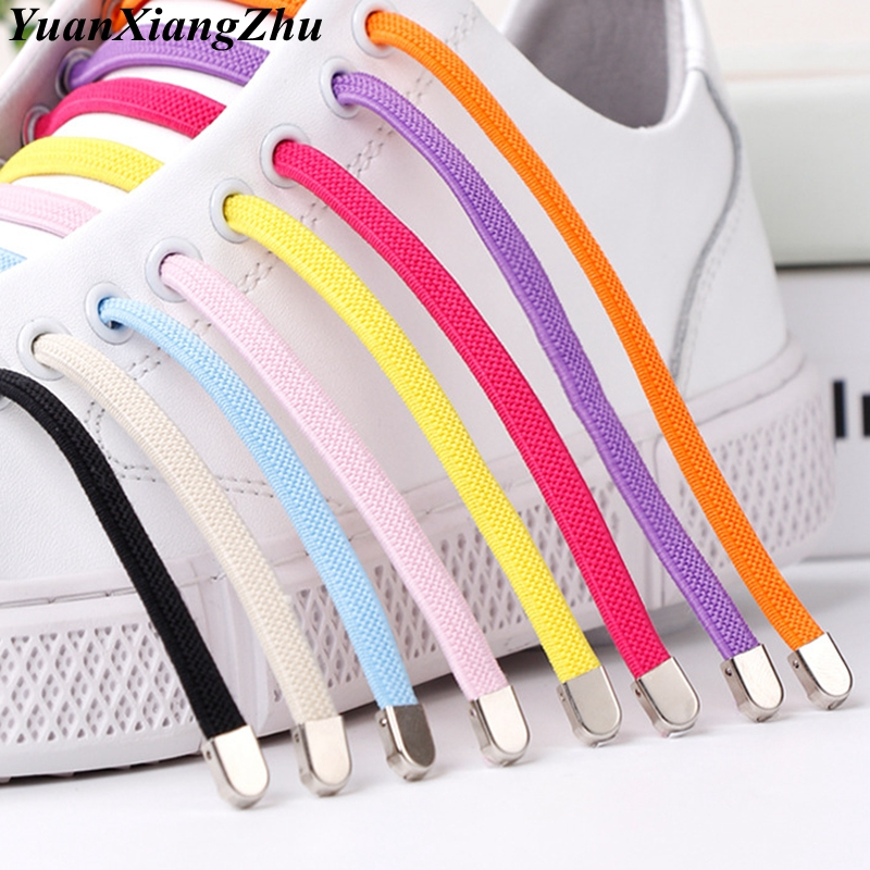 1Pair No Tie Shoelaces Flat Elastic Shoe Laces For Kids And Adult Sneakers Shoelace Quick Lazy Laces Shoe Strings