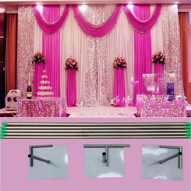 EXPRESS FREE SHIPING 3X6M Stainless Steel Pipe Wedding Expandable
