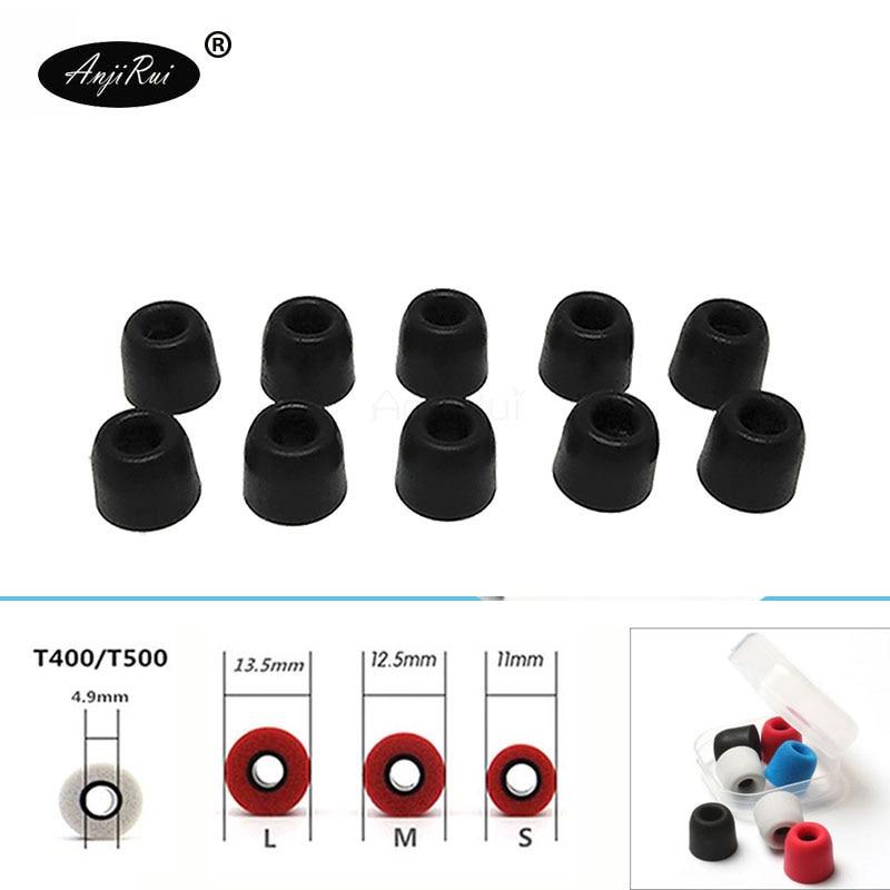 20 pcs/10 pairs. ANJIRUI Accordance T400 M 12.5mm Headphones 4.9mm caliber Ear plugs Cotton Tips Foam Memory Sponge ear cushion