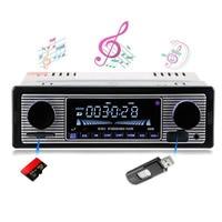 Bluetooth Stereo MP3 USB SD Vehicle MP3 Player Auto Car Classic FM Retro Radio Player U disk Plug in Radio Vehicle DVD Machine