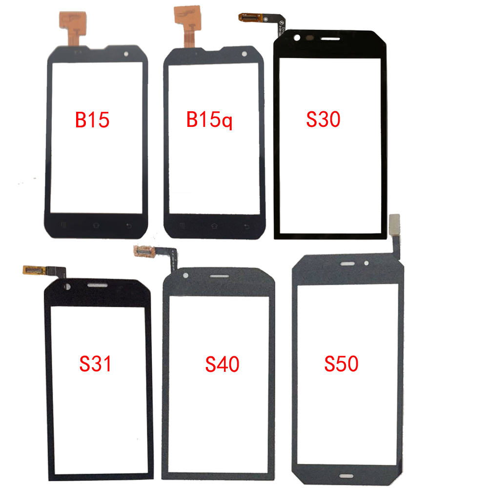 Mobile Touch Screen Glass For CAT B15 B15Q S30 S31 S40 S50 S60 Touch Screen Digitizer Panel Front Glass Lens Sensor TouchScreen