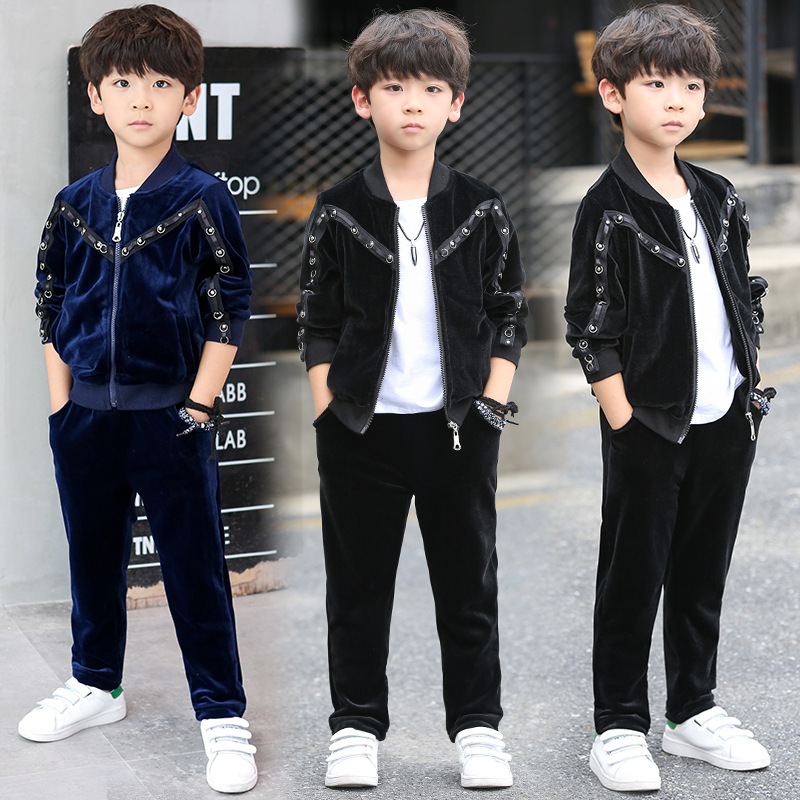 Boys Clothes Autumn 2017 Boys Sport suit Children Clothing Set Kids Tracksuit for Boys Pleuche Casual suit Teenager Kids Clothes children t shirt shorts sport suit boys clothing set sports clothes for boys tracksuit kids sport suit a sports outfit for boy