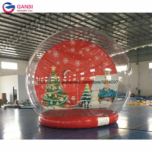 outdoor advertisement human size inflatale photo booth snow ball blow up inflatable snow globe for