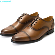 2019 Summer Fashion Oxford Dress Shoes For Men Genuine Cow Leather oxford shoes Handmade Wedding Office formal
