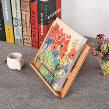 Creative Bamboo Wooden Reading Stand Book Holder Reading Shelf Plank Shelf Reading Accessories Office Storage Rack