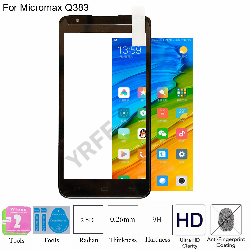 2PCS For Micromax Q383 Tempered Glass Protective Explosion-proof Screen Protector Film For Micromax Q383