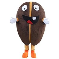 Cosplaydiy Custom Made Unisex Lovely Coffee Bean Cartoon Mascot Costume for Christmas L0713