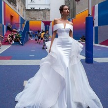 Vivian's Bridal Ins Hot Detachable Train Mermaid Wedding
