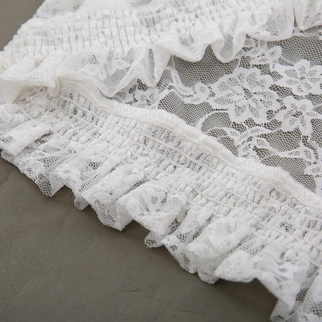 2018 Fashion Lace Bolero Womens Elegant Shrug Long Sleeve Sexy Black Wedding Evening Prom Cropped Shrugs Open Stitch Basic Coat 5