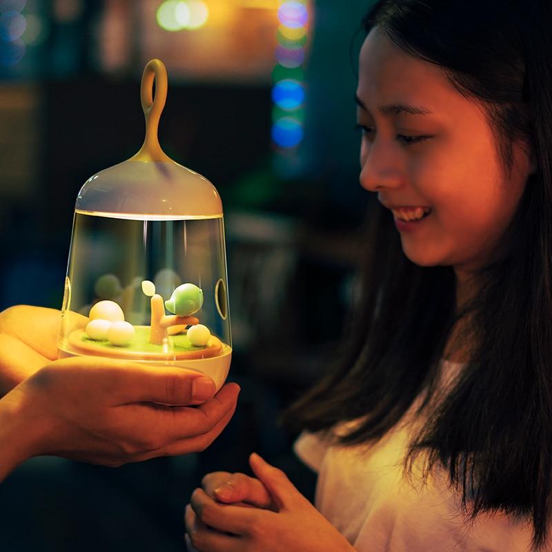 2017 micro landscape music light lamp box children bedside lamp night light touch luminaria table decorative lamp Christmas gift часы nixon corporal ss matte black industrial green
