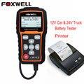 FOXWELL BT705 12 В Анализатор Автомобильный Аккумулятор и 24 В Duty Truck Батареи Тестер Проверки Работоспособности Аккумулятора с Bluetooth Принтер