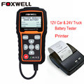 FOXWELL BT705 12V Car Battery Analyzer & 24V Duty Truck Battery Tester Check Battery Health with Bluetooth Printer