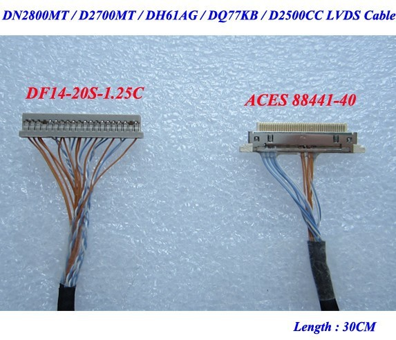 LVDS כבל תמיכה DN2800MT / D2700MT / DH61AG / DQ77KB / D2500CC - משחקים ואביזרים