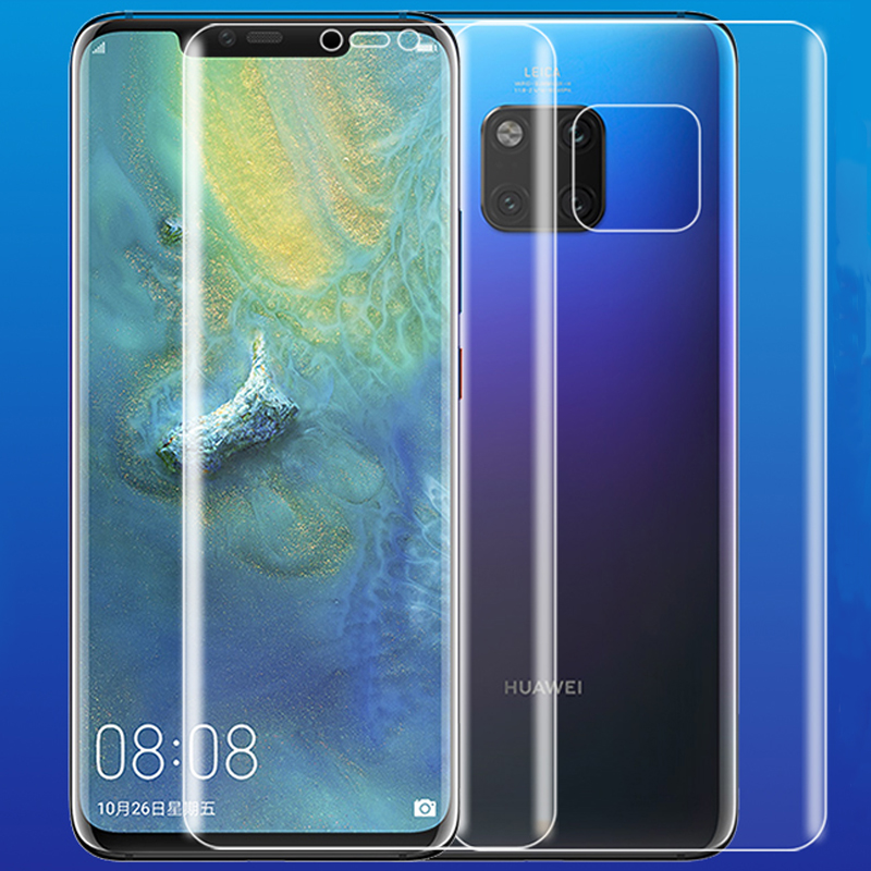 Soft HD ANti Scratch Finger 4D Full Body Cover Screen Protector for Huawei Mate 20 Pro 6 39 quot AUTO Fixed Hydrogel Film in Phone Screen Protectors from Cellphones amp Telecommunications