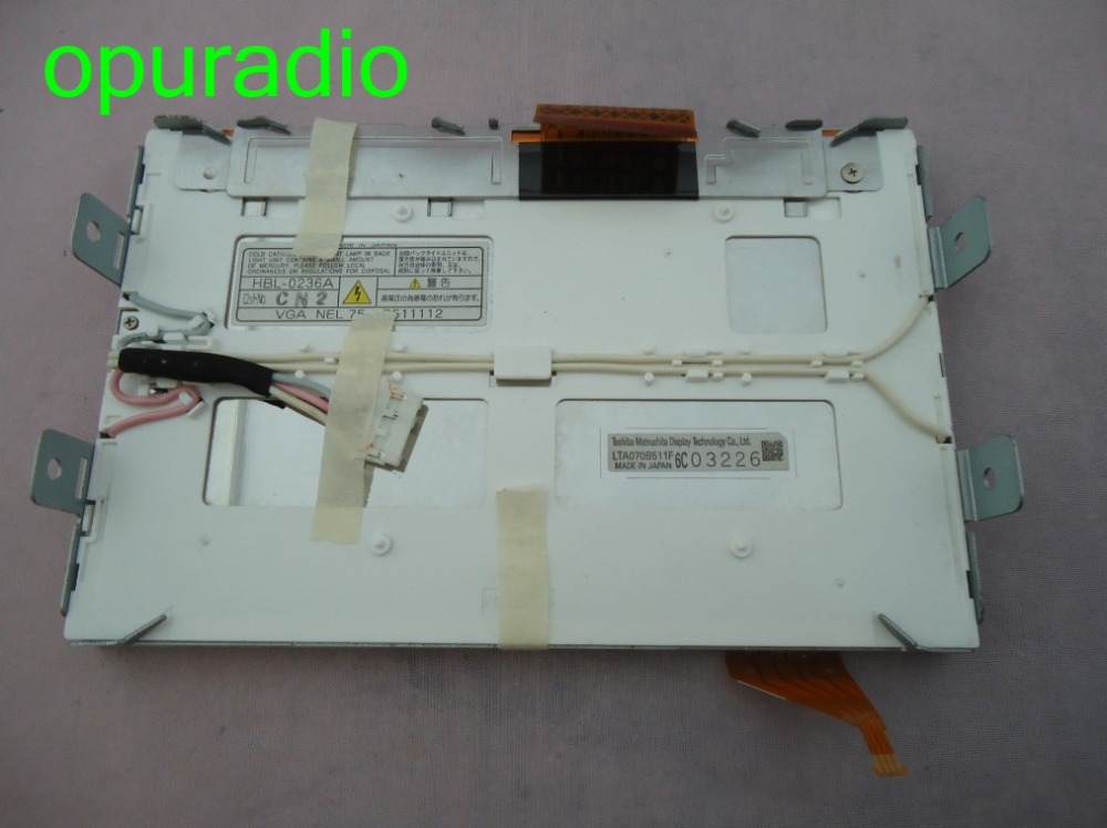 Tosheba Matsushita LCD Display LTA070B511F 7 inch screen monitor with touc panel for Lexus IS250 IS300