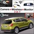 3 in1 Cámara + Receptor Inalámbrico Aparcamiento Monitor Del Espejo Especial Para Suzuki SX4 SX-4 SX 4 Hatchback MK1 MK2 2006 ~ 2015