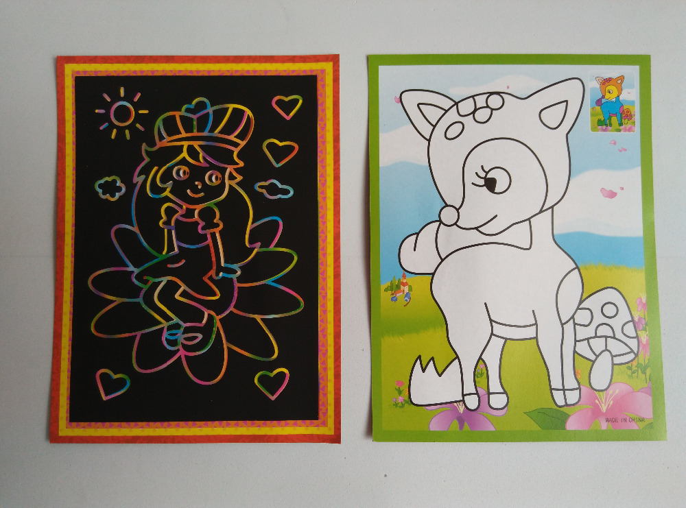Happyxuan-10pcslot-125175cm-Magic-Scraping-Drawing-Paper-Toys-Two-in-One-Coloring-Pictures-for-Kindergarten-Child-Painting-2