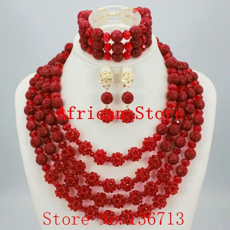 dab42933c Púrpura precio de fábrica Moda Africana Cuentas joyería Set cristal más  popular joyería de traje Africana bc322-3