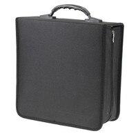 Nieuwe Draagbare 320 Capaciteit CD DVD Media Opslag Houder Draagtas Case Duurzaam Zwart Hoge Kwaliteit