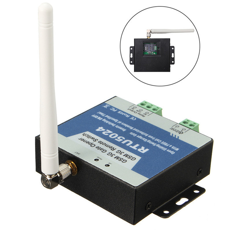 Ouvreur de porte GSM RTU5024 GSM commutateur à distance contrôle d'accès sans fil porte Garage battant porte coulissante ouvreur par appel gratuit App support