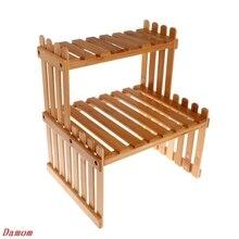 Полки для растений, деревянный стеллаж для цветов и сада, подставка для цветов, демонстрационная подставка из бамбукового дерева, подставка для хранения бамбуковой полки, держатель
