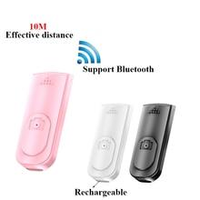 Autoscatto Bluetooth wireless ricaricabile selfie stick rilascio otturatore telecomando Wireless per IOS Android