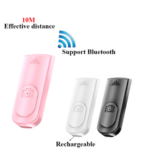 Rechargeable wireless Bluetooth self timer selfie stick Shutter Release Wireless Remote Control for for IOS Android