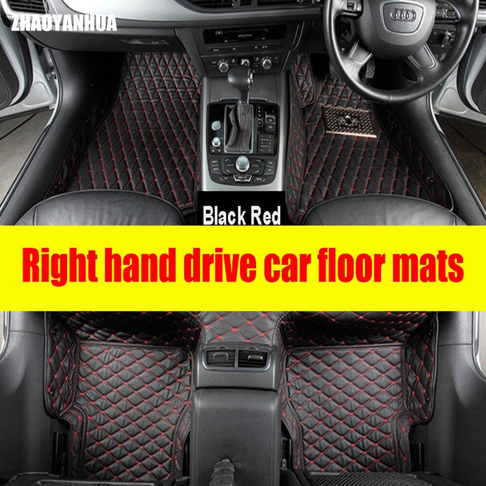 ZHAOYANHUA Right hand drive noleggio auto tappetini per Infiniti EX QX50 EX25 Q50 Q70 G25 G35 G37 EX35 EX37 M25 M35 M37 styling Auto c