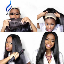 Alicrown Straight Brazilian Full Lace Wig With Baby Hair Straight Glueless Lace Front Human Hair Wigs For Black Women To Tangle