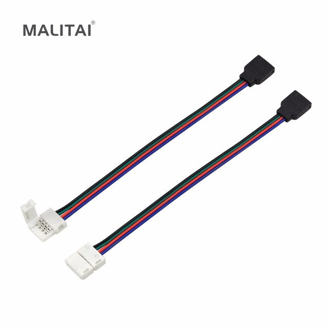 Rgb led strip light connectors 10mm 4pin no soldering cable pcb rgb led strip light connectors 10mm 4pin no soldering cable pcb board wire to 4 pin mozeypictures Image collections