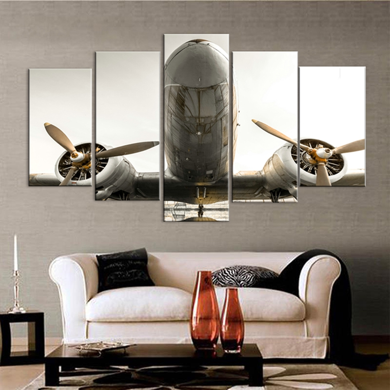 Modular Home Decor Wall Art Canvas HD Printed Pictures Living Room Plane  Poster Frame 5 Pieces