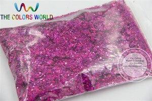 Image 3 - 24 голографических цвета, 1 мм, лазерные блестки пайетки для дизайна ногтей, художественных и ремесленных аксессуаров