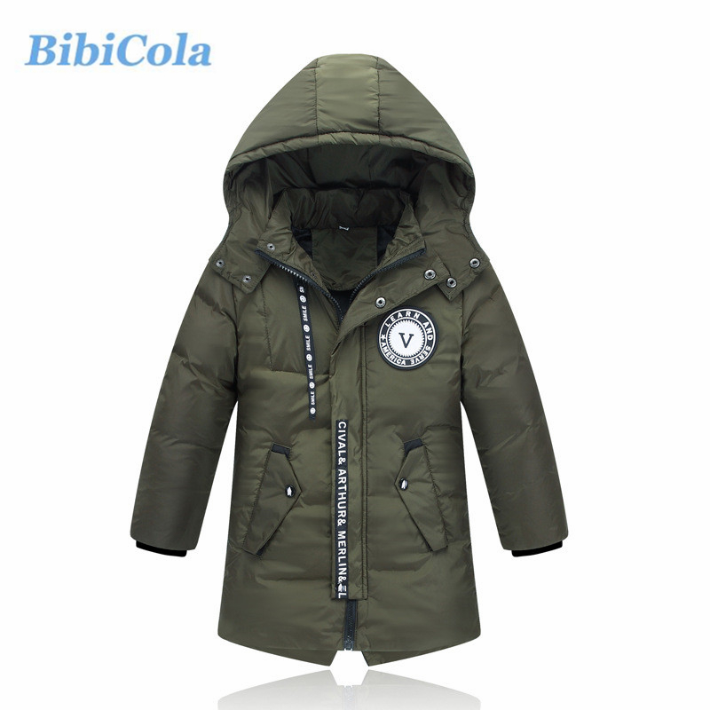 BibiCola Little Boy Winter Coat Children Boy Warm Parkas For Boys Hooded Jacket Kids Cotton Outerwear Thick Parkas children winter coats jacket baby boys warm outerwear thickening outdoors kids snow proof coat parkas cotton padded clothes