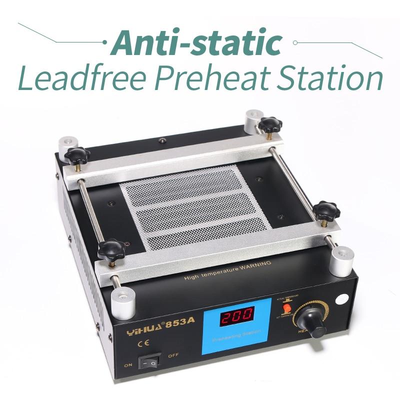 все цены на YIHUA 853A Anti Static Bga Rework Station Mobile Phone Preheat Station онлайн