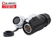 Cnlinko 9-контактный водонепроницаемый авиационный круглый разъем, светодиодное/силовое/осветительное оборудование, надежная Резьбовая Кабельная вилка, монтажная панель