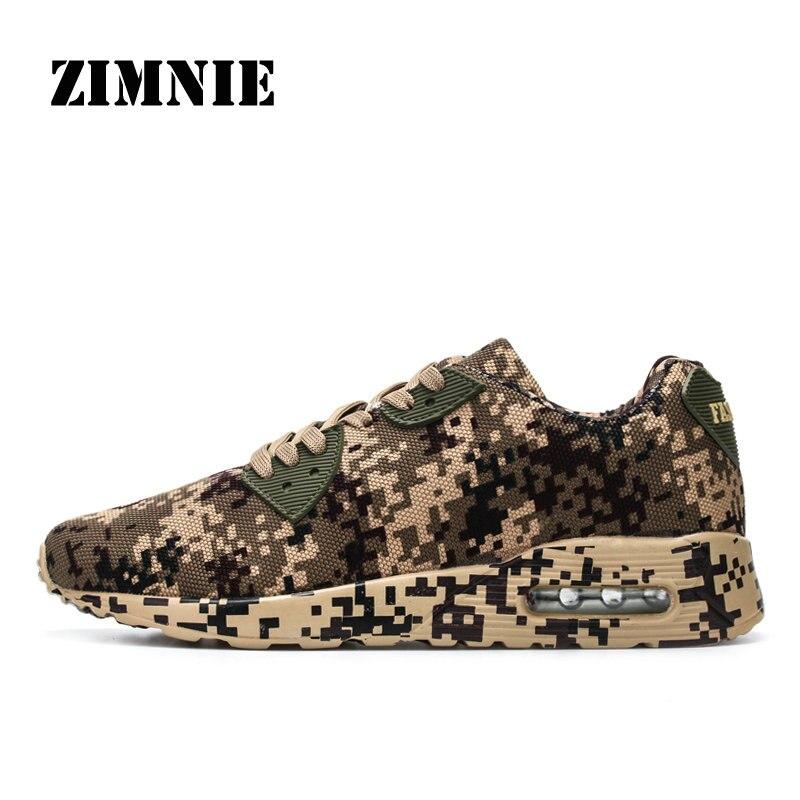 ZIMNIE Chaussures de Course Hommes Sneakers Couples Sport Athlétique Zapatillas Extérieure Camouflage style Respirant Formateur Chaussures pour hommes