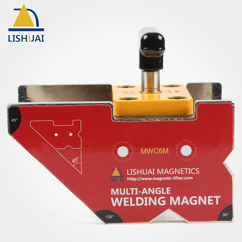 цены LISHUAI On/Off Multi-angle Magnetic Welding Clamp/Strong Rare Earth Welding Magnet Holder MWC6