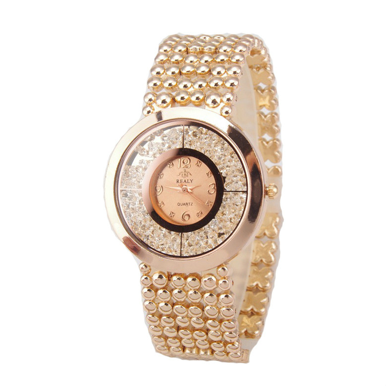 2017 New Fashion Luxury Women Rhinestone Full Steel Gold Bracelet Quartz Watch Women Dress Diamond Watch Ladies Wristwatches brand diamond rose gold women rhinestone watch female butterfly fashion steel women quartz bling dress watch for ladies bracelet