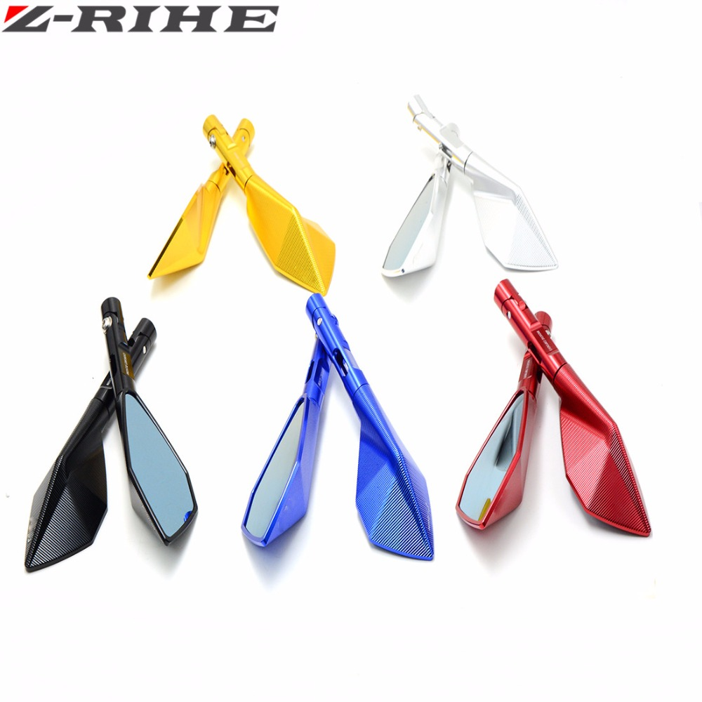 Universal Aluminum CNC motorcycle Side mirror rearview accessories For yamaha YZF R125 R15 R25 r 125 15 25 FZ1 FAZER 2006- 2012