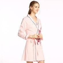 Towel Bath Robe Dressing Gown Unisex Men Women Sleeve Solid Cotton Waffle Sleep Lounge Bathrobe Peignoir Nightgowns Lovers Robes