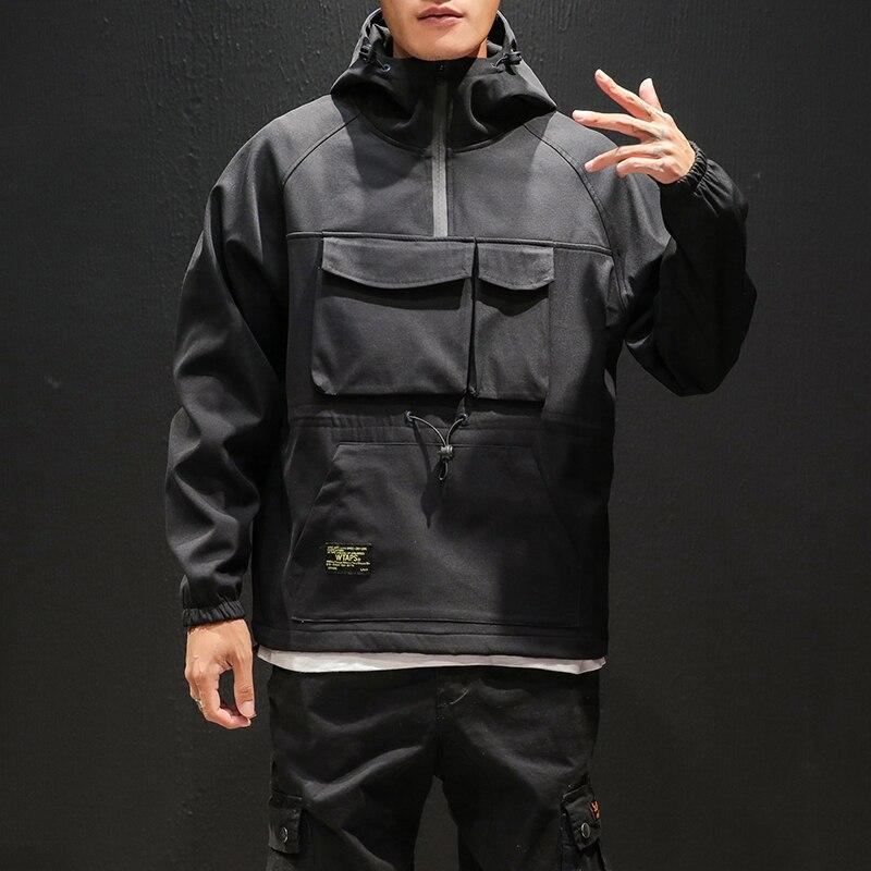 2019 vêtements de travail veste hommes pilote à capuche veste hiver plus velours grande taille baseball uniforme carte de marée lâche