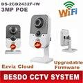Ds-2cd2432f-iw DS-2CD2432F-I (w) hik cube câmera de 3MP câmera IP sem fio wi-fi wi fi wi-fi POE 1080 p 2cd2432f-iw ds-2cd2432f