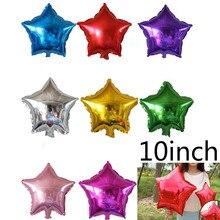 ГОРЯЧАЯ 10 шт./лот 10 inch Звезда воздушные шары 25 СМ Пять-Точка баллон Для Свадьбы День Рождения поставки Надувные globos