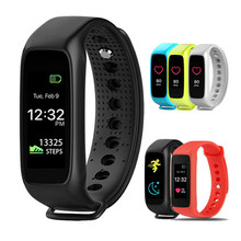 Bluetooth fitness tracker SmartBand Heart Rate Monitor colorful TFT-LCD Screen for Iphone 5 6 7 plus IOS Android OS PK MI Band 2
